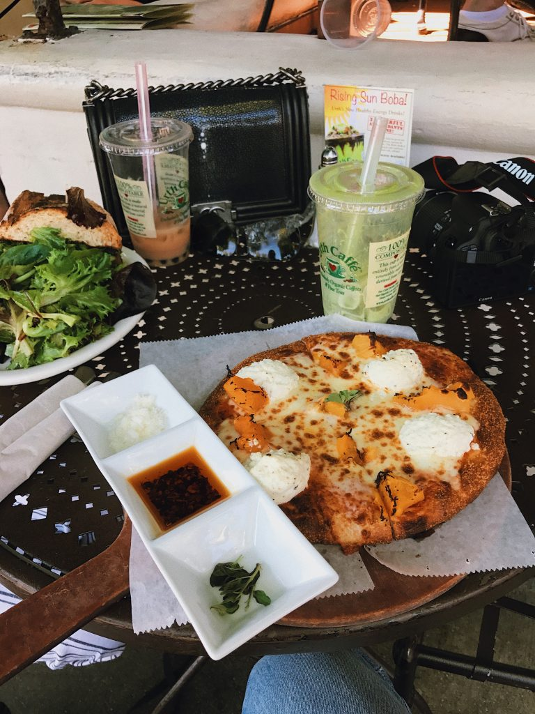 lunch at urth cafe