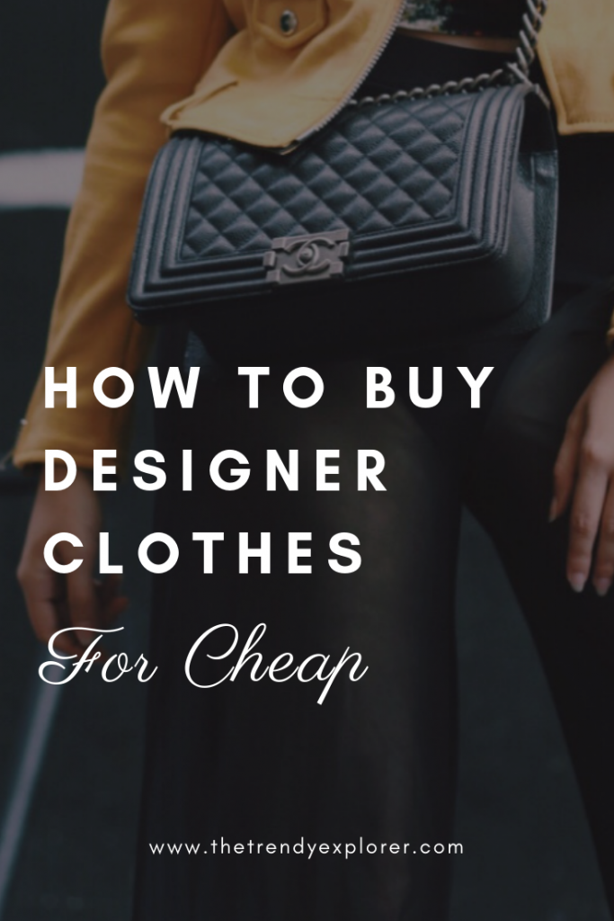 buy designer clothes for cheap